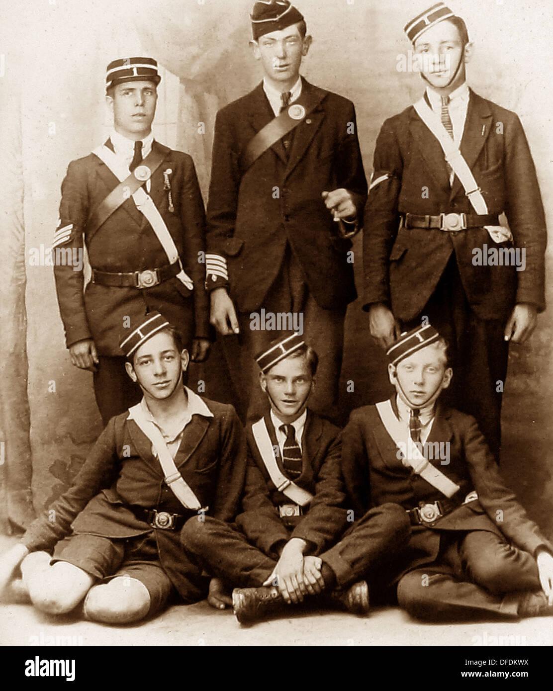 Boys Brigade probably 1920s - Stock Image