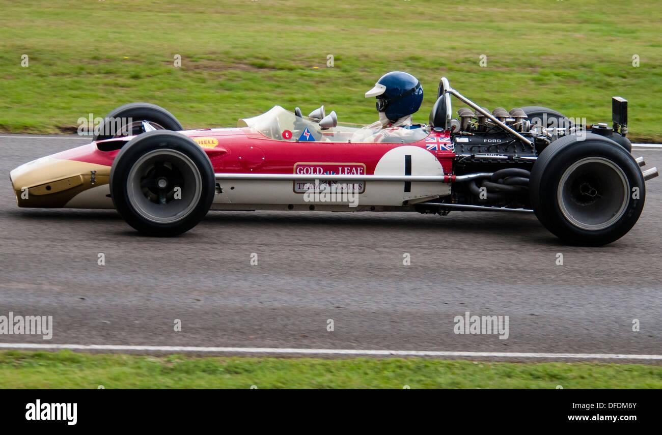 1968 Gold Leaf Lotus 49 Formula One Car - Stock Image