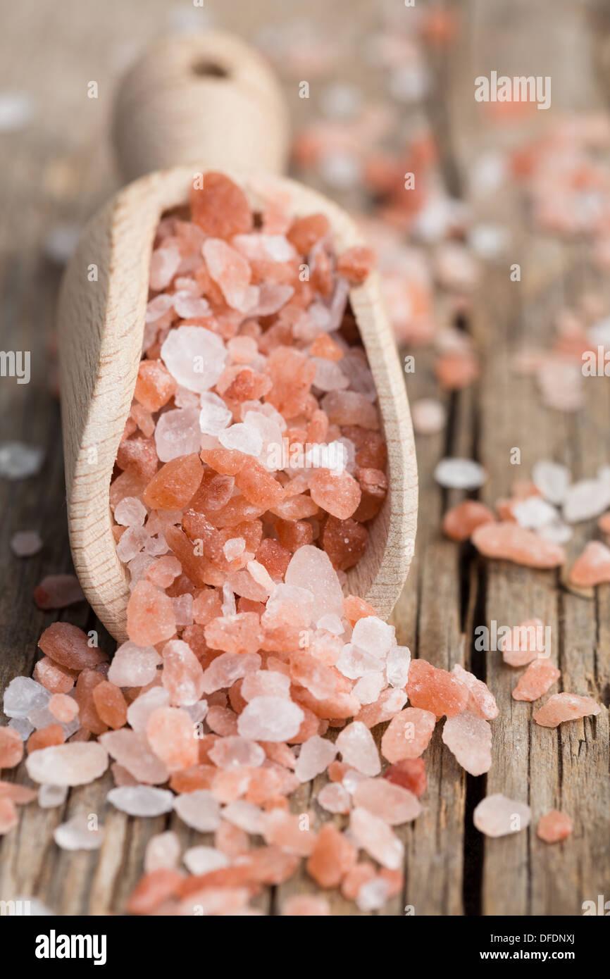 Himalayan pink salt - Stock Image