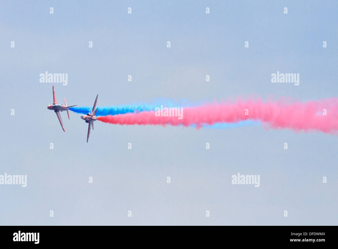 Red Arrows at the Bournemouth Air Show - Stock Image