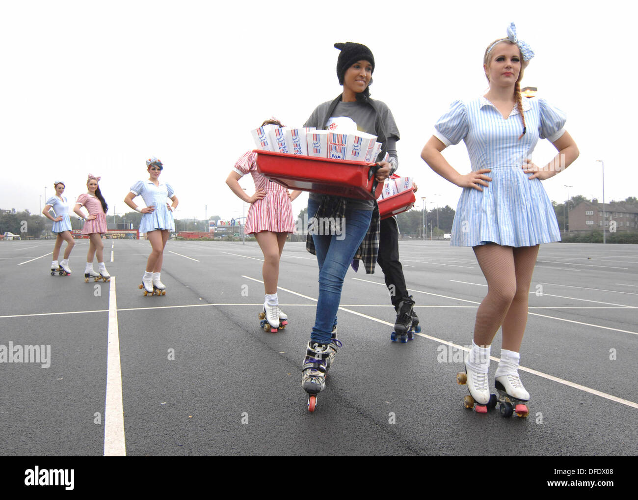 London, UK  02nd Oct, 2013  Roller Girl & Boy Auditions at the South