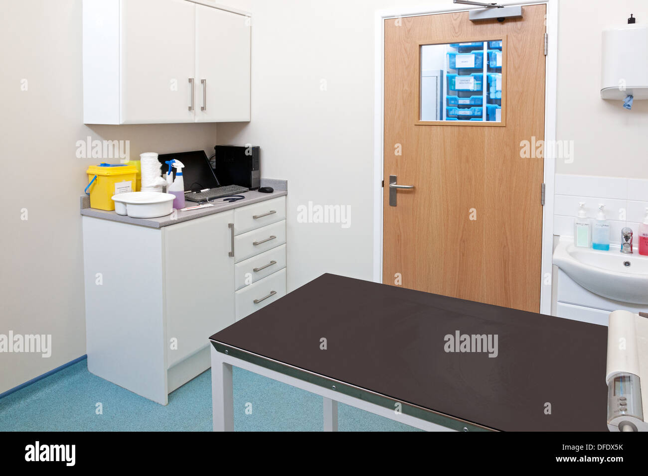 Vets examination room in a veterinary practice - Stock Image