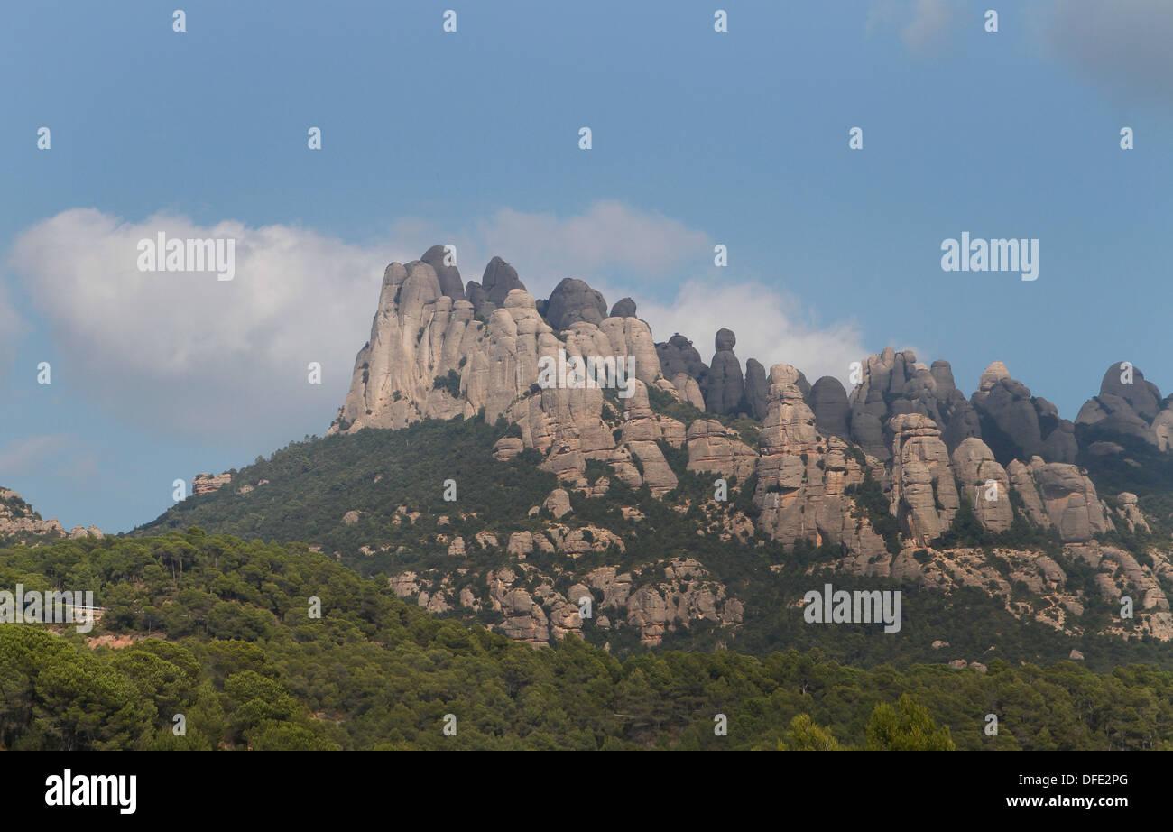Montserrat mountains, Barcelona, Spain - Stock Image