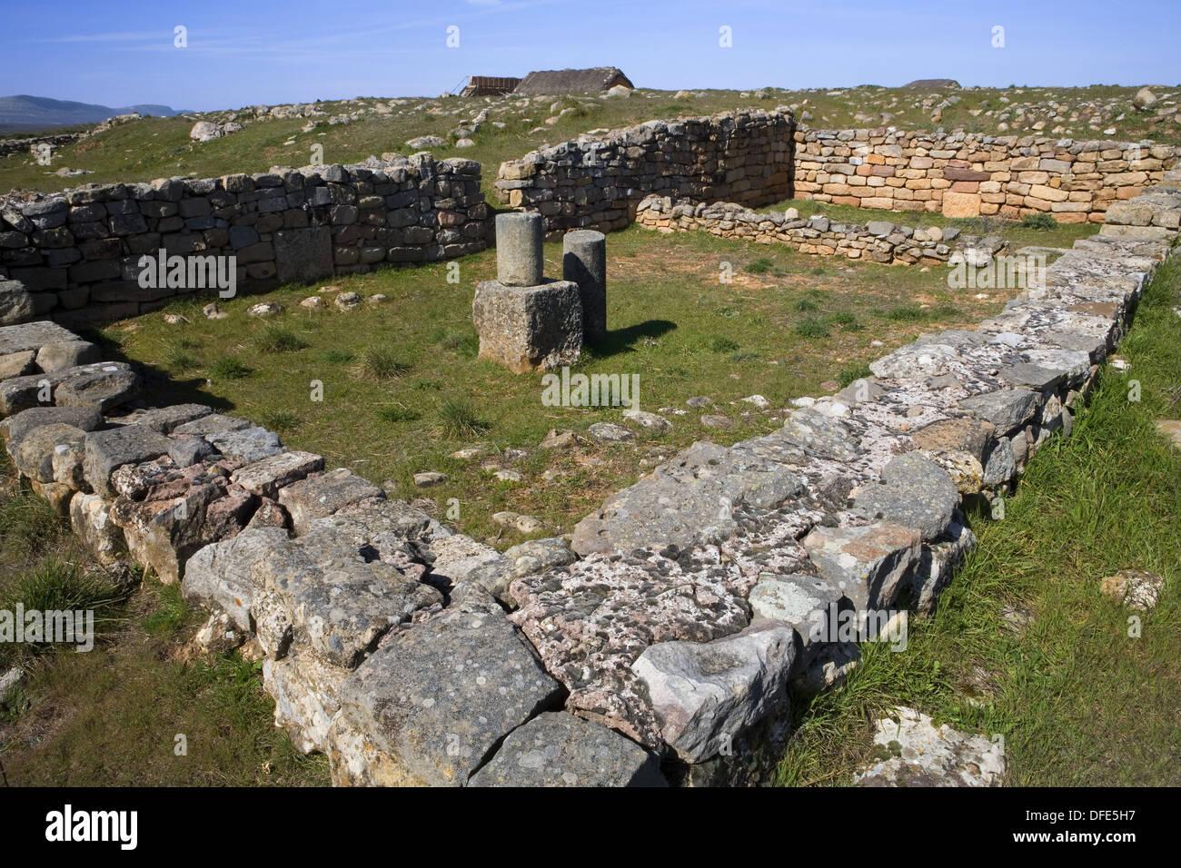 Ancient city of Celtiberians and Arevacos. Numancia. Soria province. Castilla y León. Spain. - Stock Image