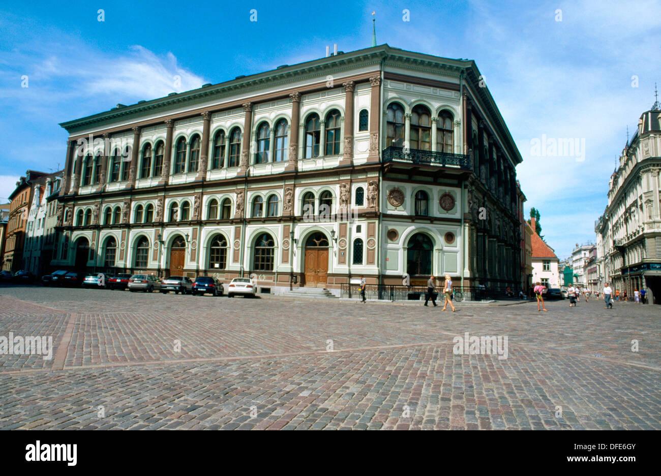 Venetian style building (1852-1855). Doma Laukums (Dome Square). Riga. Latvia - Stock Image
