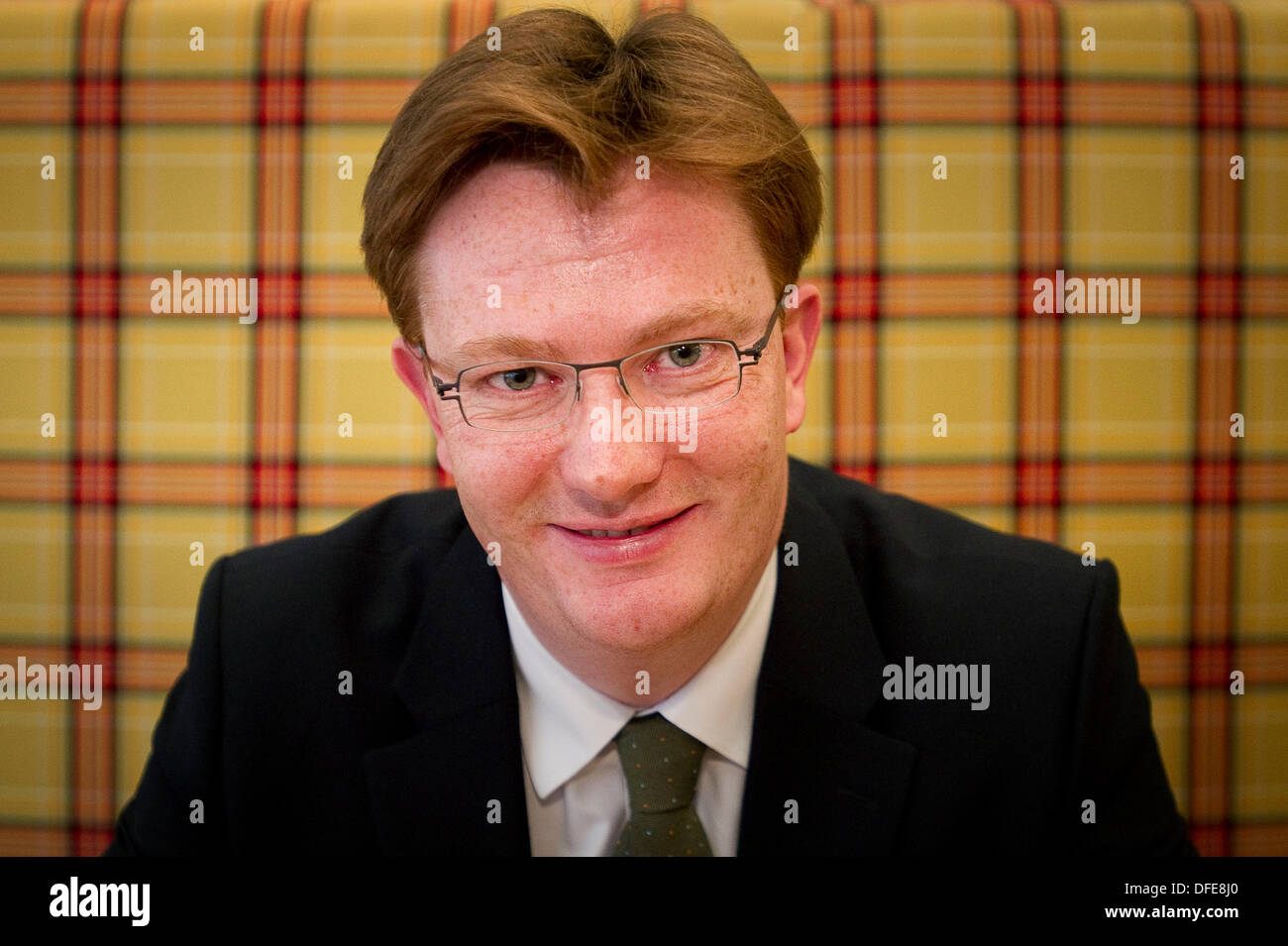 Edinburgh, UK. 3rd October 2013. Keynote speakers Danny Alexander MP, Chief Secretary to the Treasury, HM Government at the Novotel Central at the Scotland 2020: Conference on Realising the opportunities of an ageing population. Credit Steven Scott Taylor/ Alamy Live News - Stock Image
