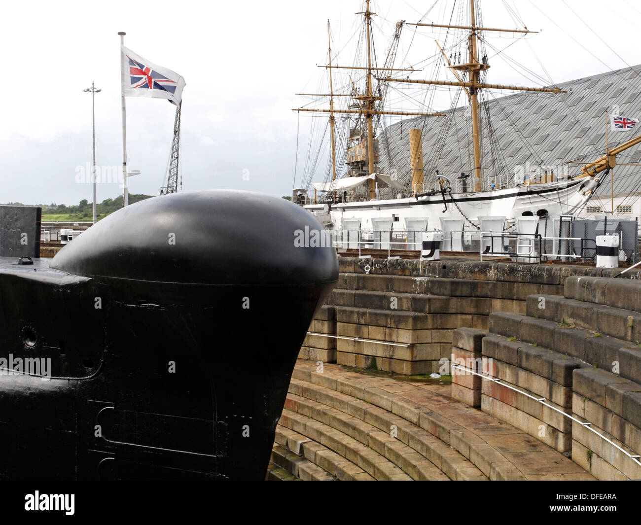 HMS Ocelot S17 was an Oberon-class diesel-electric submarine laid down by HM Dockyard at Chatham in Kent on 17 November 1960 - Stock Image