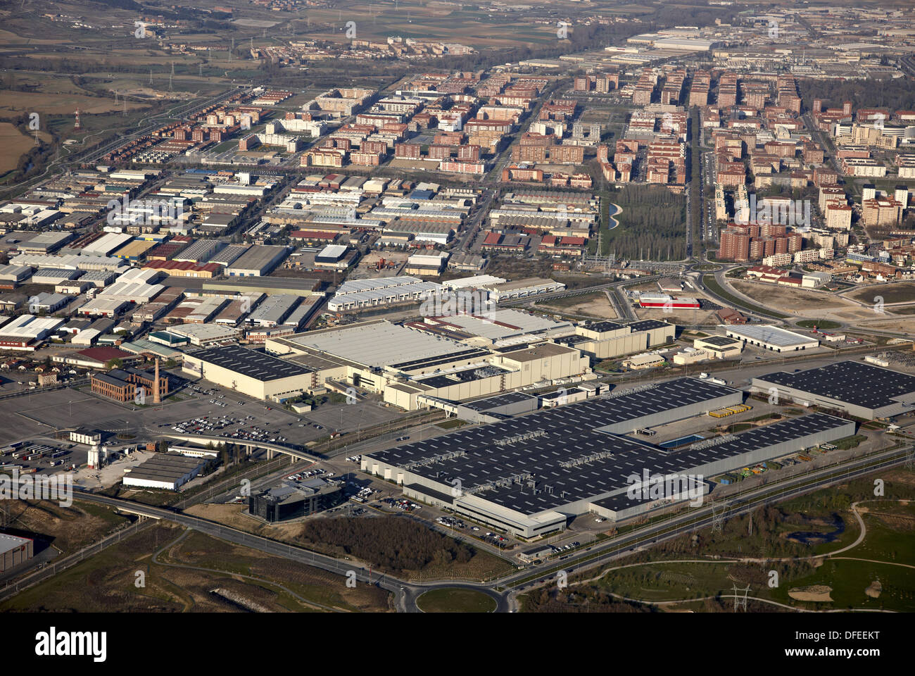 Mercedes-Benz van factory, Poligono Industrial Jundiz, Vitoria (Gasteiz), Araba, Basque Country, Spain - Stock Image