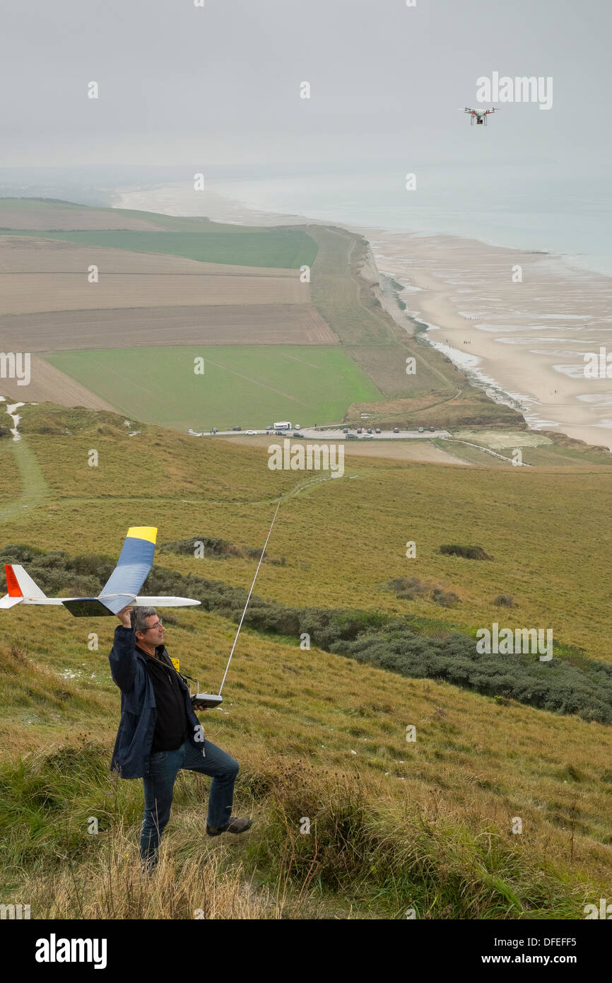 model aircraft enthusiast - Stock Image