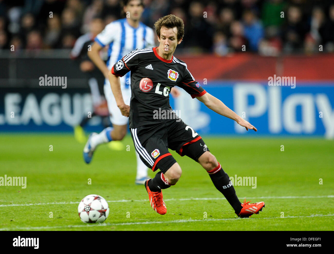 Leverkusen, Germany. 02nd Oct, 2013. UEFA Football Championsleague 2013/14 group stage 2nd matchday 2.10.2013, Bay Arena Leverkusen, Bayer 04 Leverkusen - Real Sociedad San Sebastian --- Robbie Kruse (Leverkusen) Credit:  kolvenbach/Alamy Live News - Stock Image