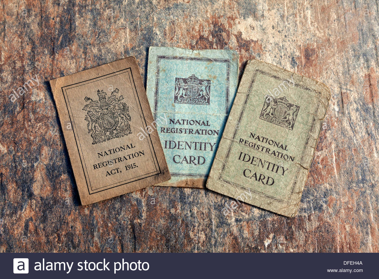 National Registration Act - Identity Cards - Stock Image