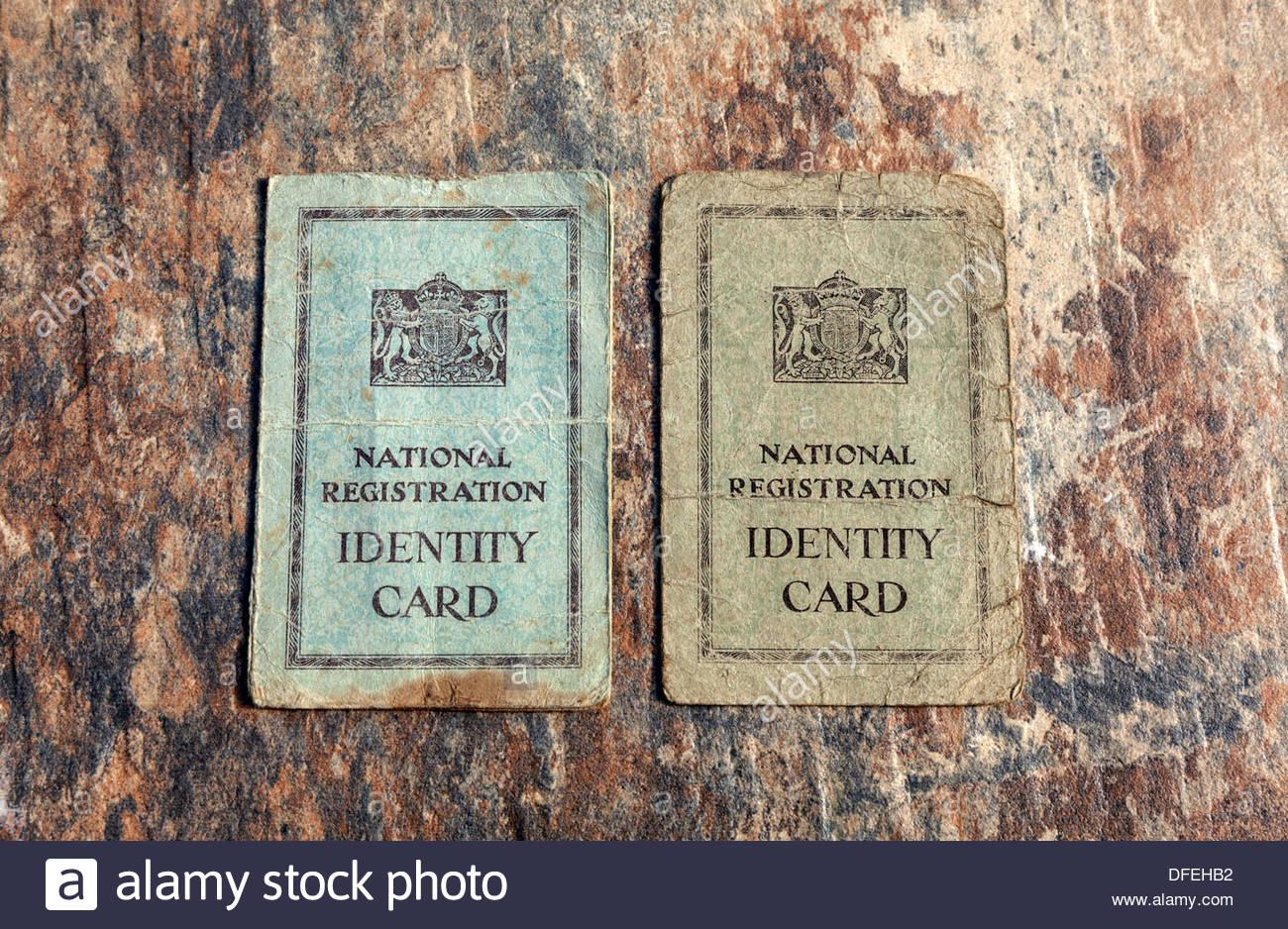 National Registration Identity Cards - Stock Image