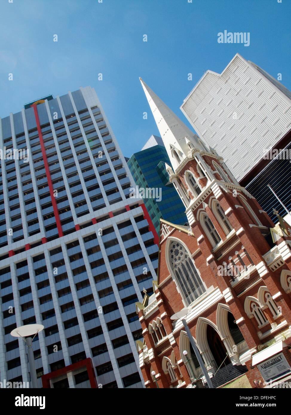 Albert Street Uniting Church in central Brisbane, Queensland, Australia - Stock Image