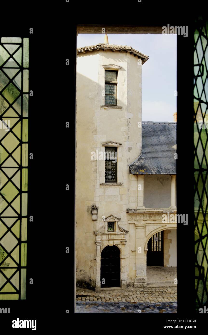 Old Clerjotte Townhouse (late 15th century). Ernest Cognacq Museum. Saint Martin town. Island of Ré. Charente - Stock Image