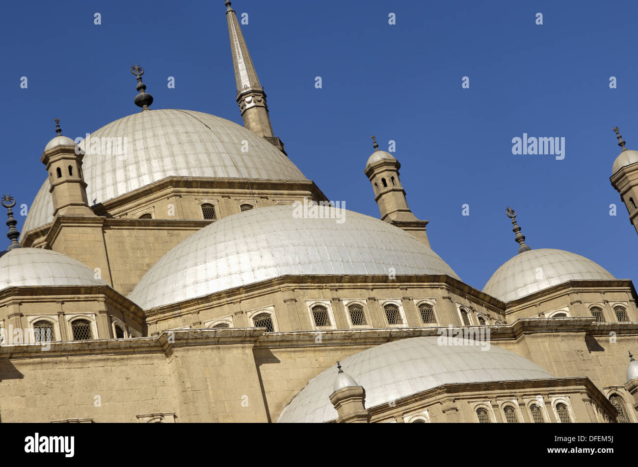The Mosque of Muhammad Ali at the Citadel built during the first half of the 19th century. Cairo city. Egypt. Stock Photo