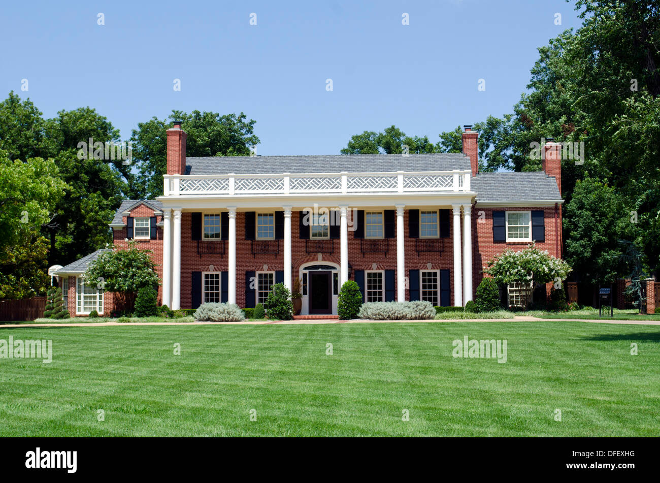 Colonial Style House Exterior Stock Photos Colonial Style House