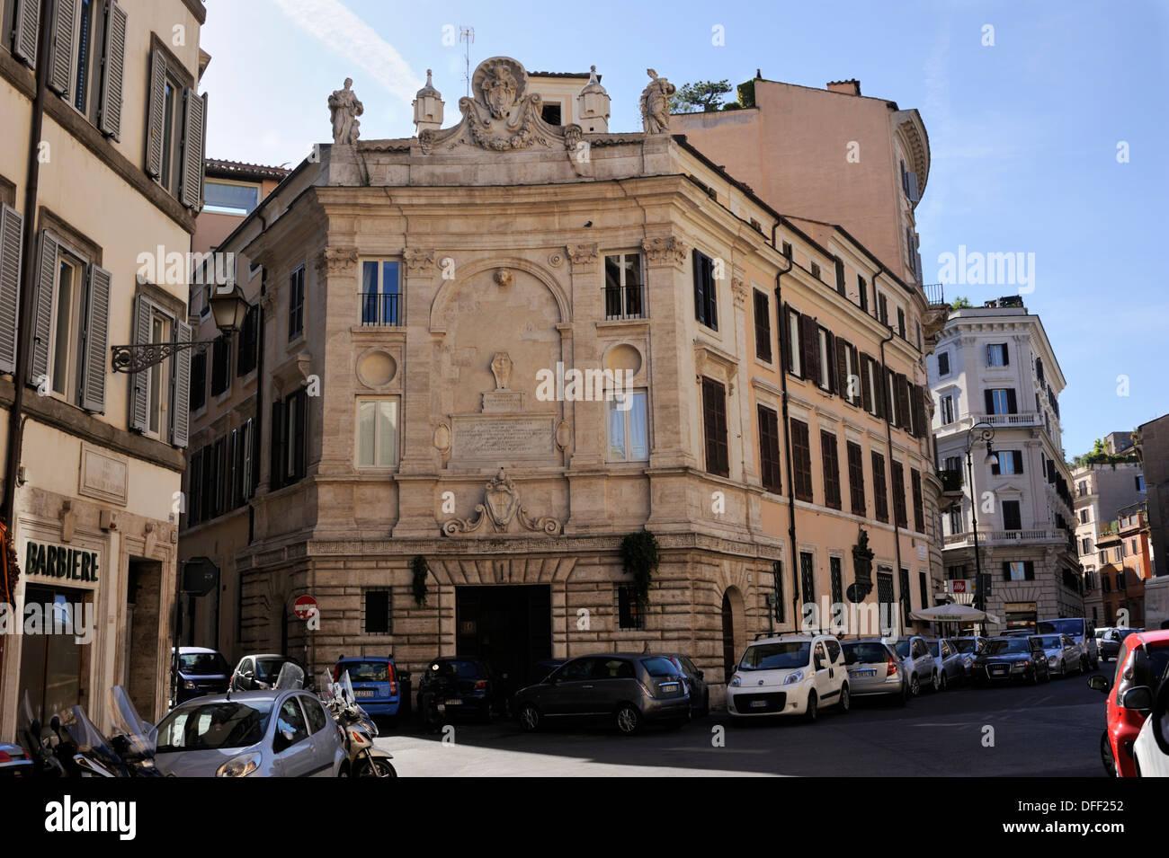italy, rome, palazzo del banco di santo spirito - Stock Image