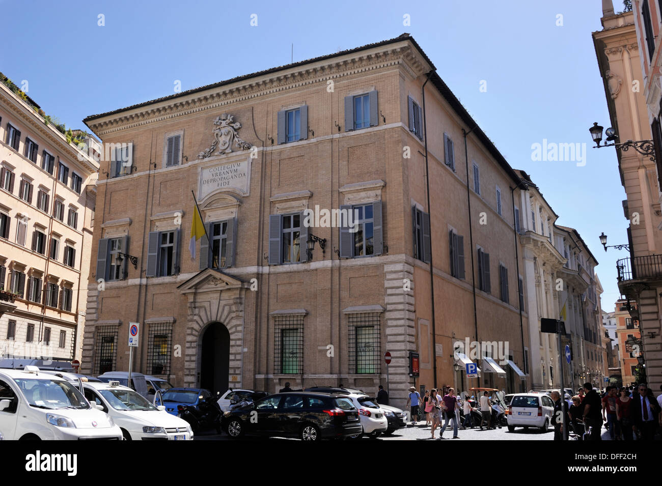 italy, rome, palazzo di propaganda fide - Stock Image
