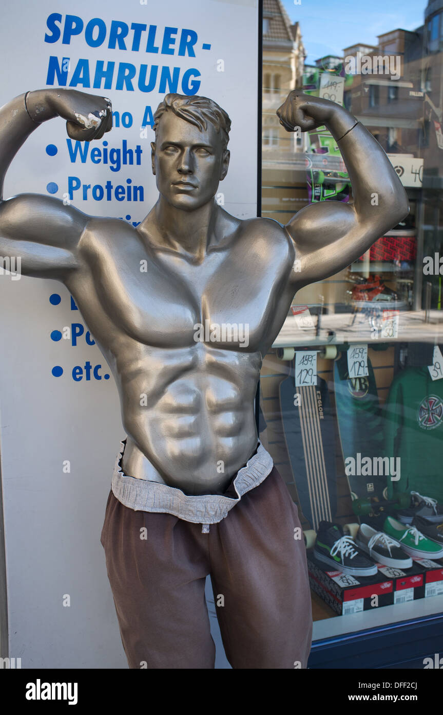 Sports shop Cologne Germany - Stock Image