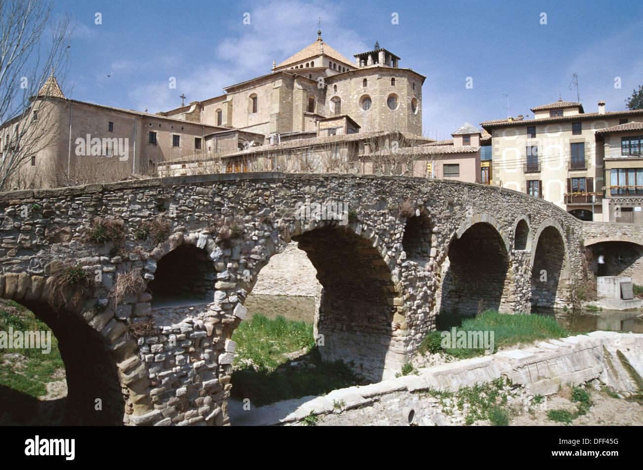 Queralt bridge. Vic. Spain - Stock Image