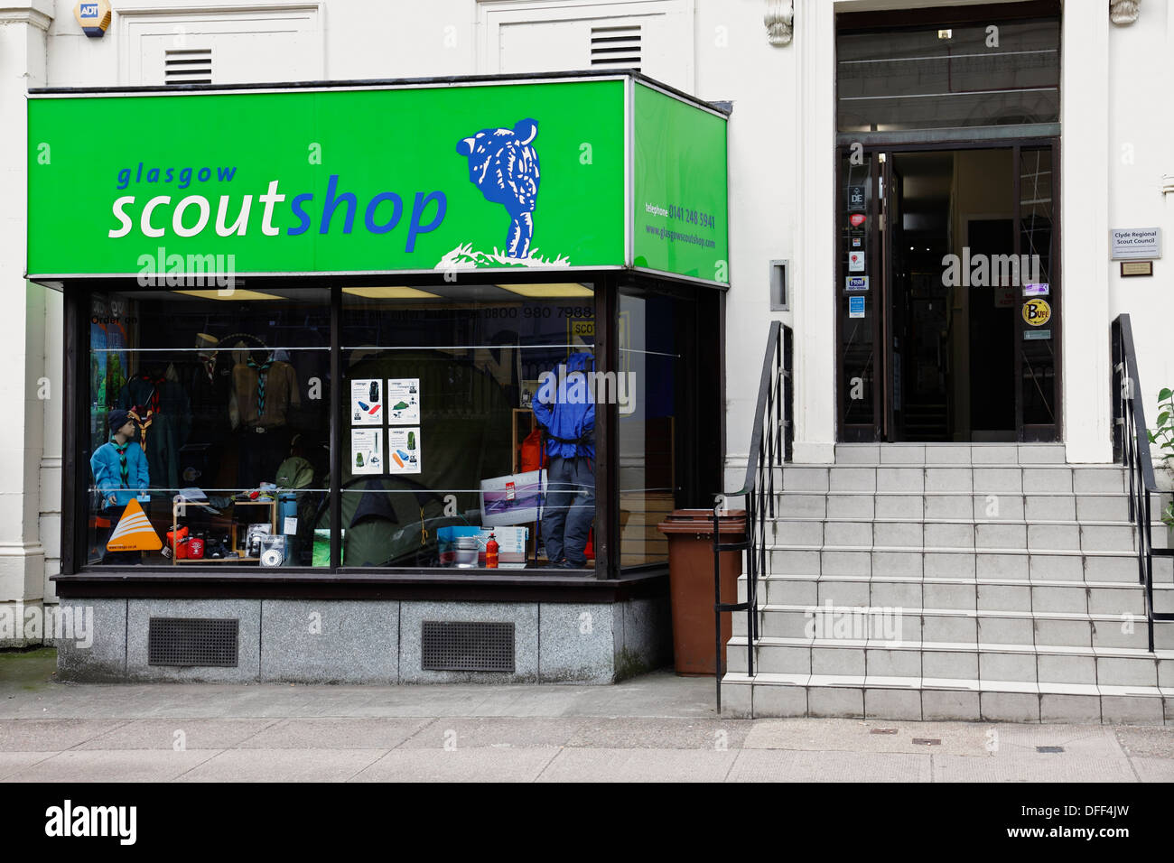 The Scout Shop on Elmbank Street in Glasgow city centre, Scotland, UK - Stock Image