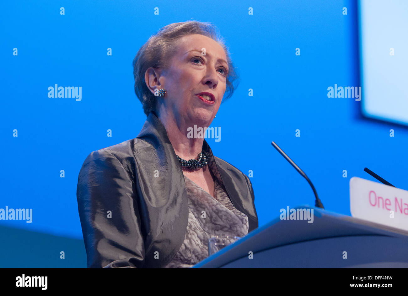 Margaret Beckett MP for Derby South addresses the Labour Party conference in Brighton 2013 - Stock Image