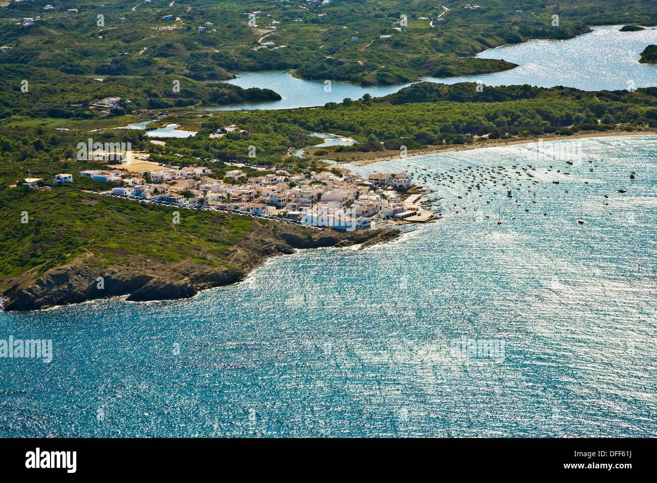 Es Grau, Minorca, Balearic Islands, Spain - Stock Image