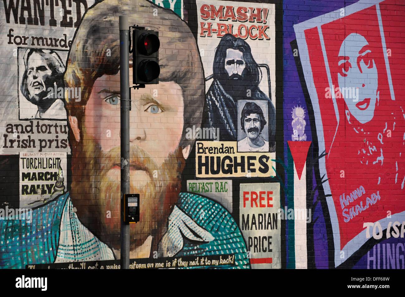 GBR, Nordirland, Belfast, Gaeltacht Quarter, 02.11.2012, International Wall in the Falls Road in West Belfast. Stock Photo
