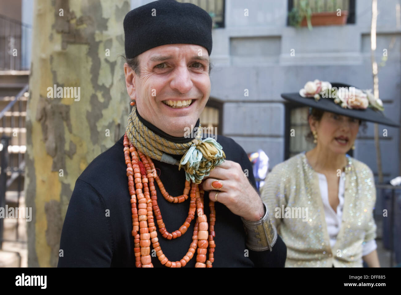 Man in Greenwich village with pillbox hat Stock Photo  61186725 - Alamy b214124b0fc