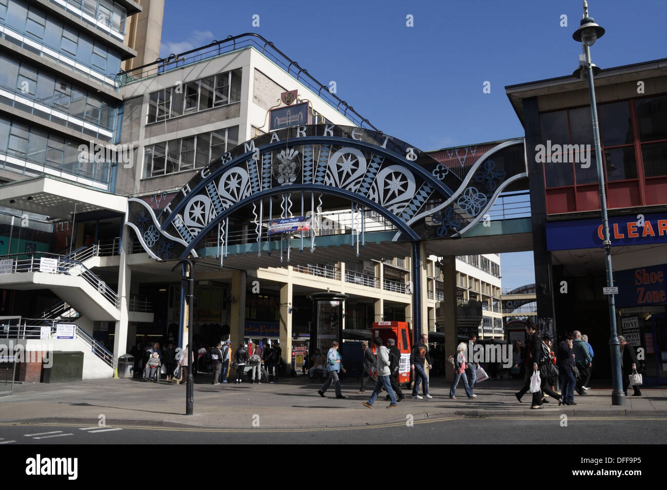 Castle Market building in Sheffield, 1960s Architecture, now demolished - Stock Image