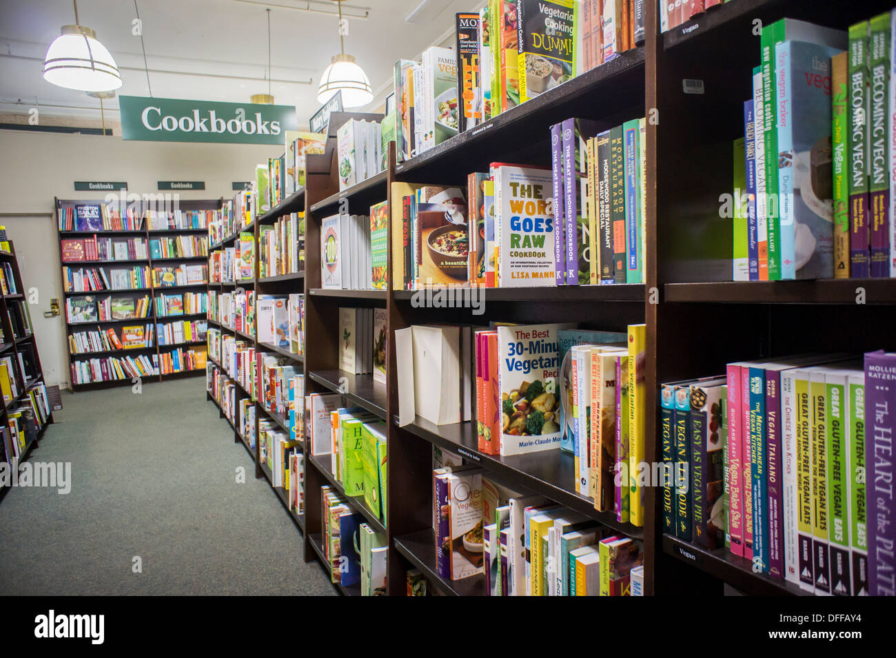The Cookbook Aisle In A Barnes Noble Bookstore In New York On