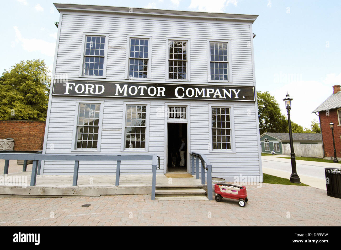 First Ford automobile assembly plant at Historic Greenfield Village and Henry Ford Museum located at Dearborn Michigan Stock Photo