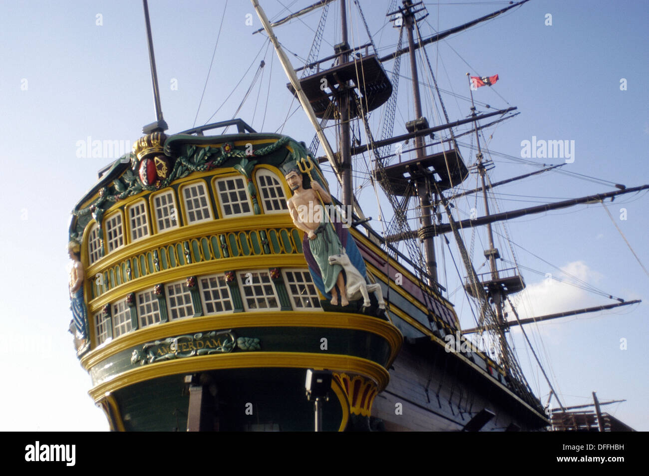Replica of the ´Amsterdam´, Dutch East India Company vessel. Amsterdam. Holland - Stock Image