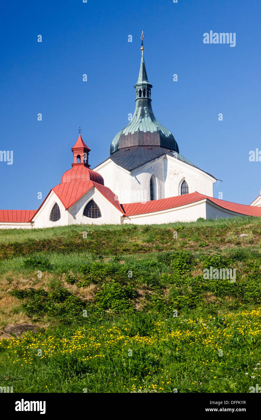 Pilgrimage church of St. John of Nepomuk. Zdar nad Sazavou, Czech Republic Stock Photo