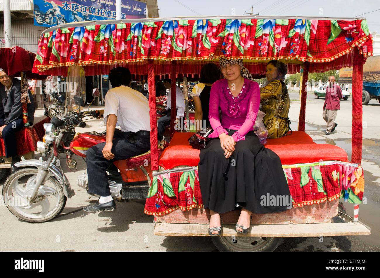Public transport Xinjiang style. - Stock Image