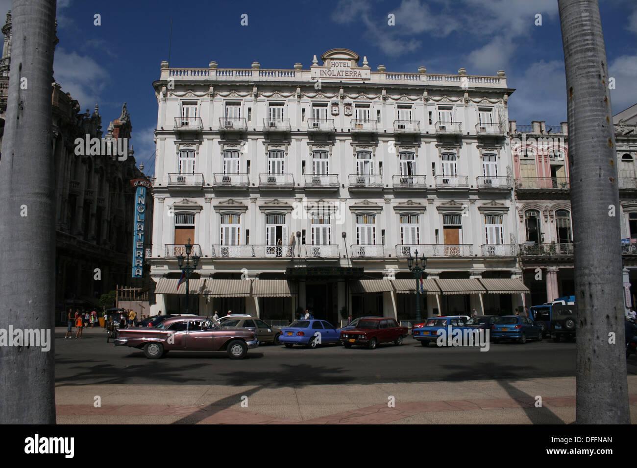 Hotel Inglaterra, Place de la Revolucion, Havana Cuba - Stock Image