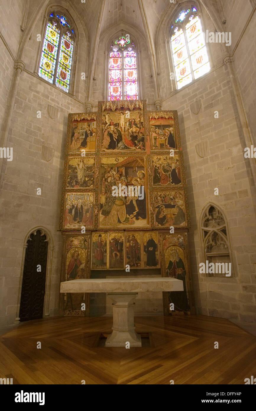 Capella Reial de Santa Àgata, Barcelona, Spain - Stock Image