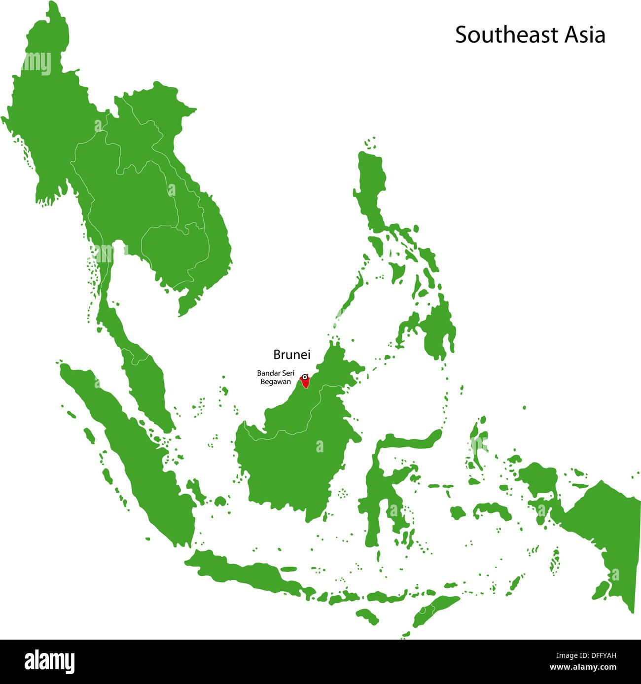 Image of: Brunei Map Stock Photo Alamy