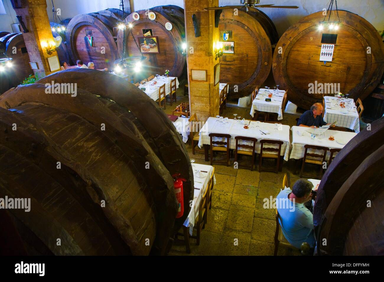 Restaurant Celler Sa Travessa. Inca. Majorca. Balearic Islands. Spain. - Stock Image