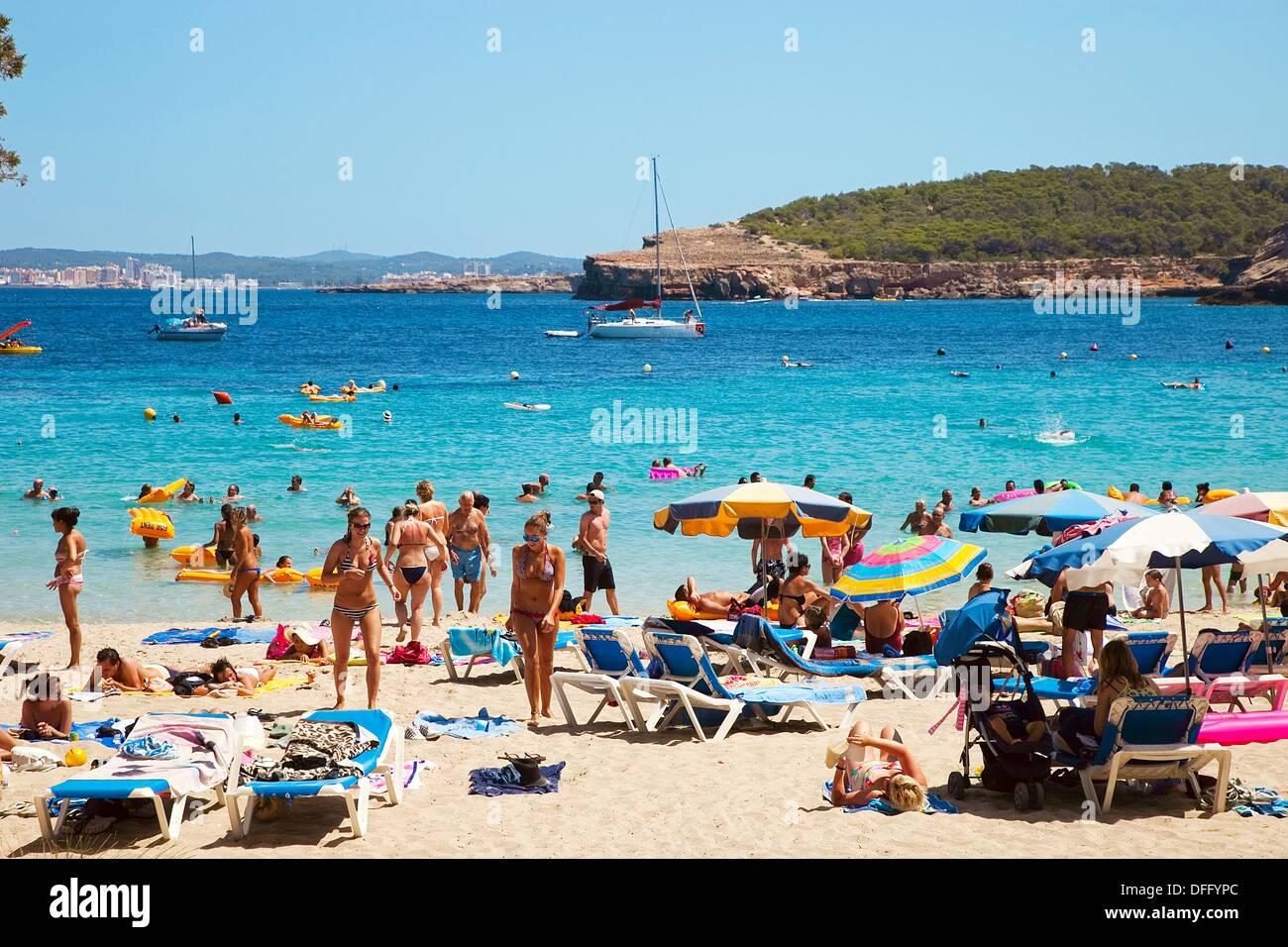 Cala Bassa  Ibiza  Balearic Islands  Spain Stock Photo