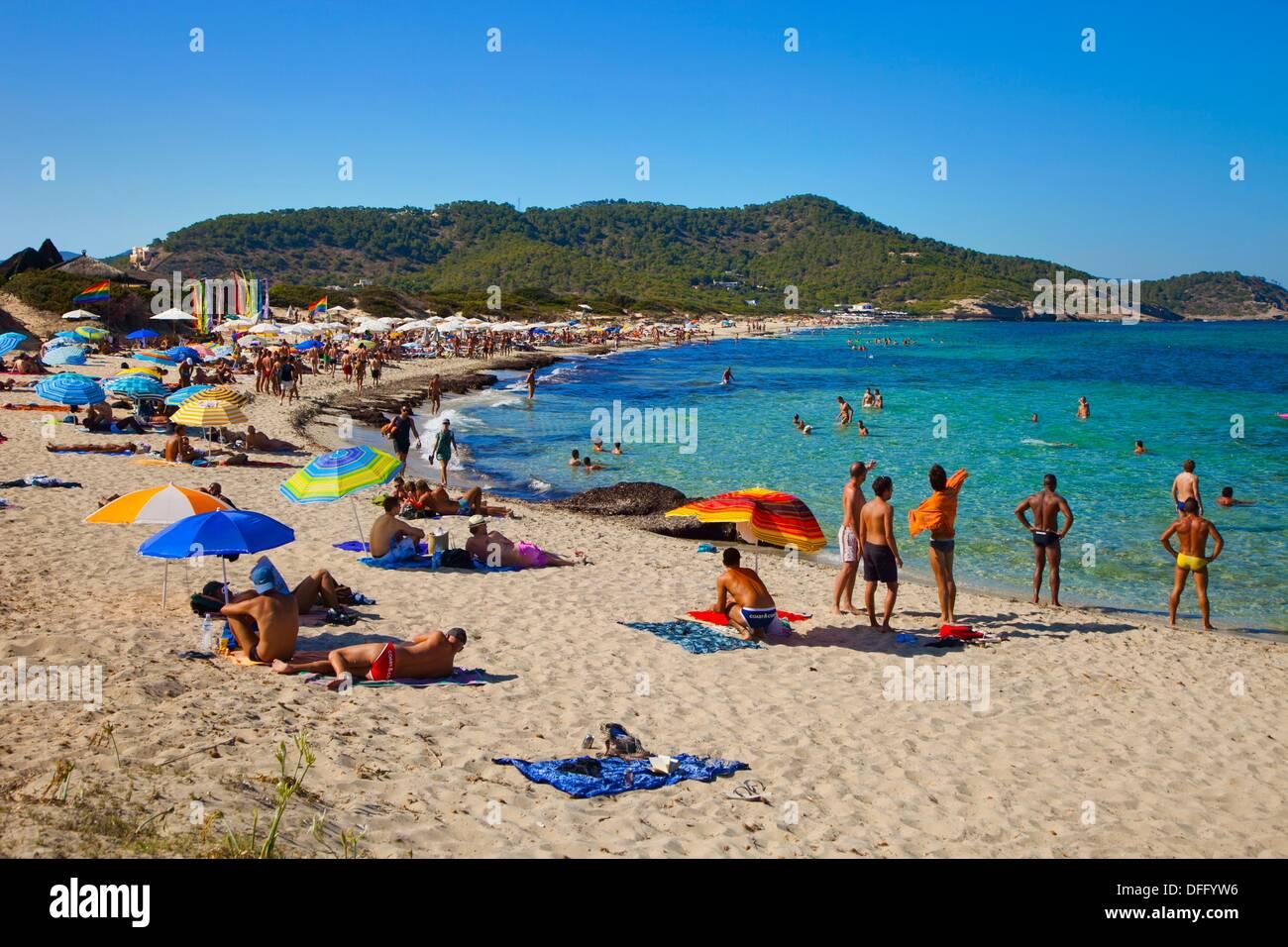 Es Cavallet. Beach. Ibiza. Balearic Islands. Spain Stock