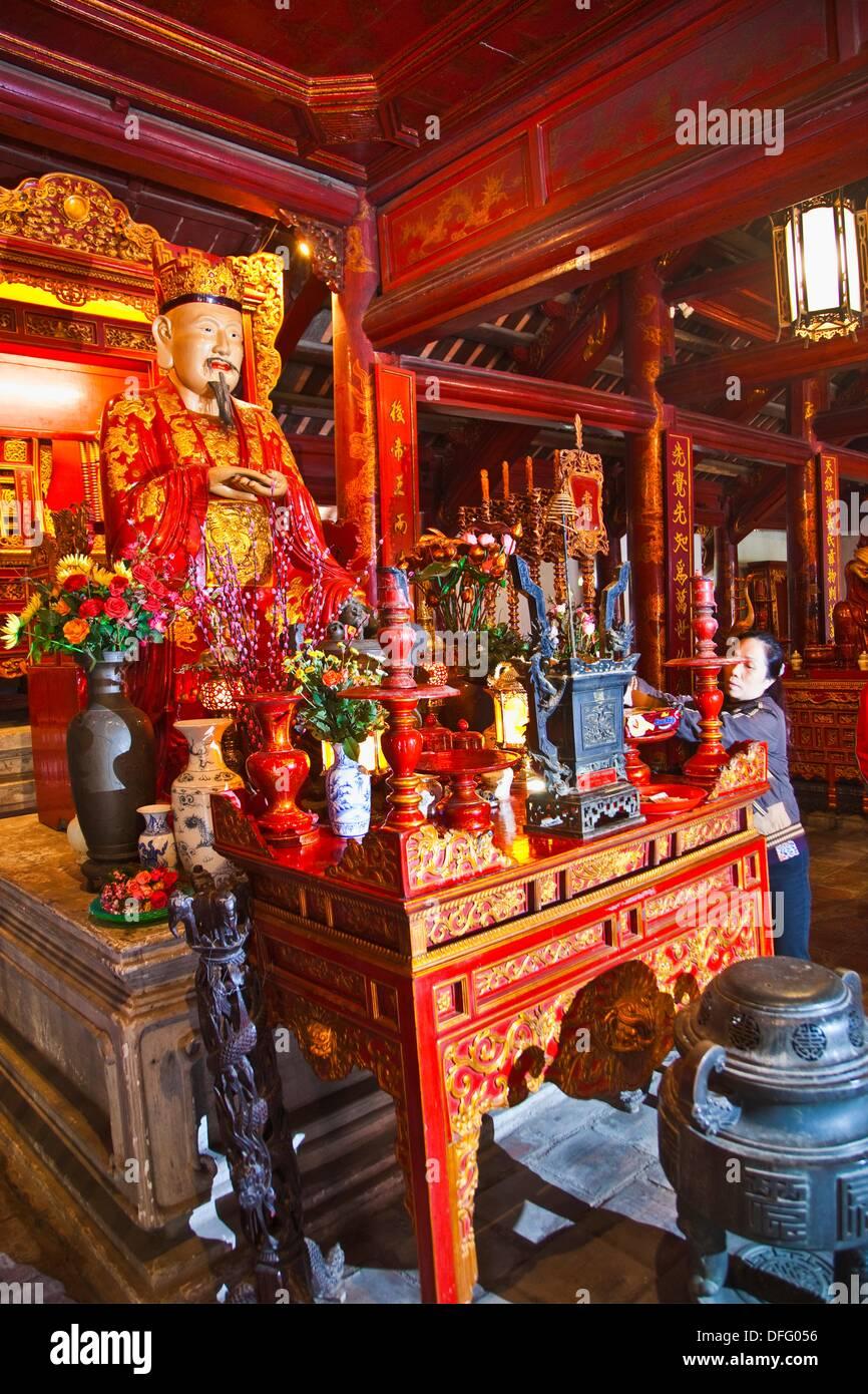 Confucio Temple  Literature Temple  HANOI  VIETNAM. - Stock Image