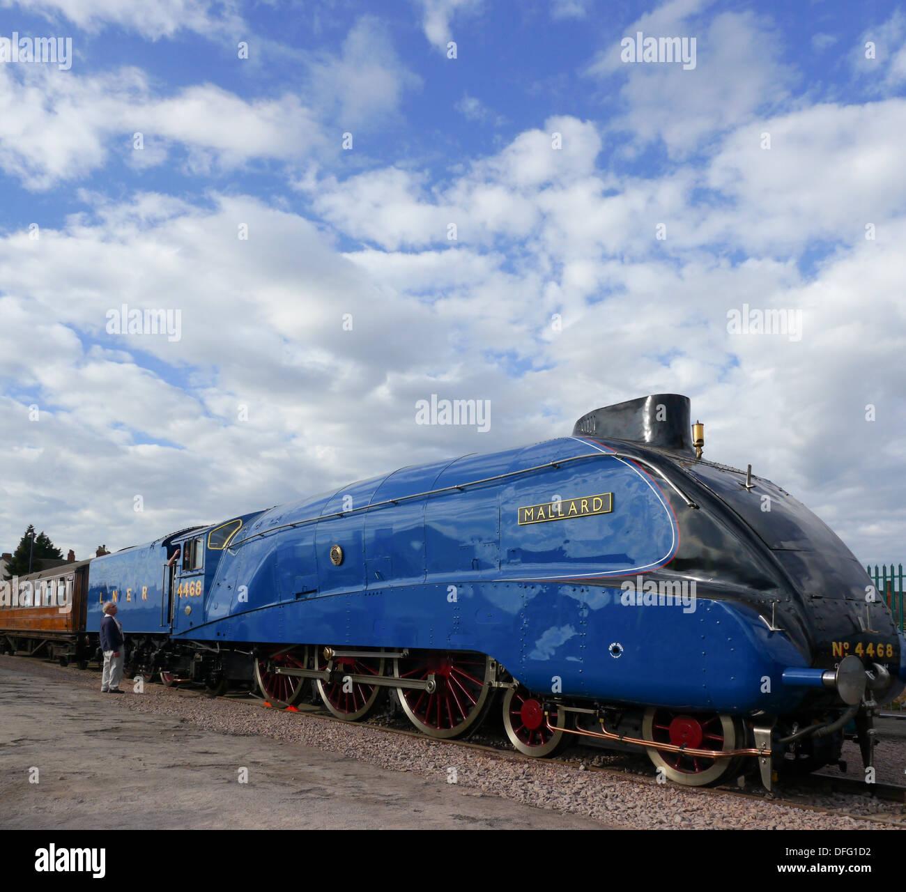 'The Mallard' A4 Pacific locomotive. - Stock Image