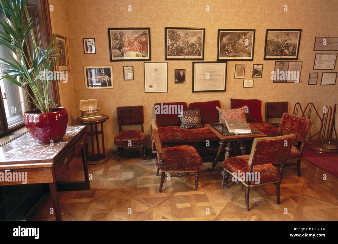 Waiting room. Sigmund Freud Museum. Vienna. Austria - Stock Image