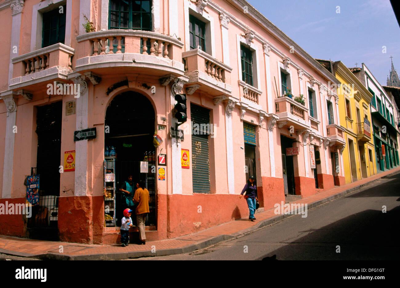Colonial Architecture In Quito Ecuador Stock Photo 61203432 Alamy