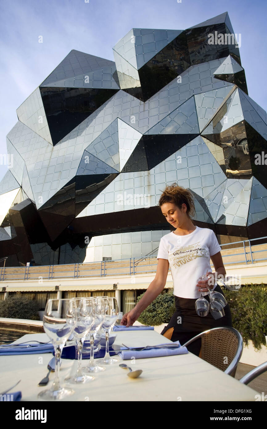 Kinémax. It is a symbol of quartz. More than 20.000 hours of geometrical studies were necessary for its design. Futuroscope, - Stock Image