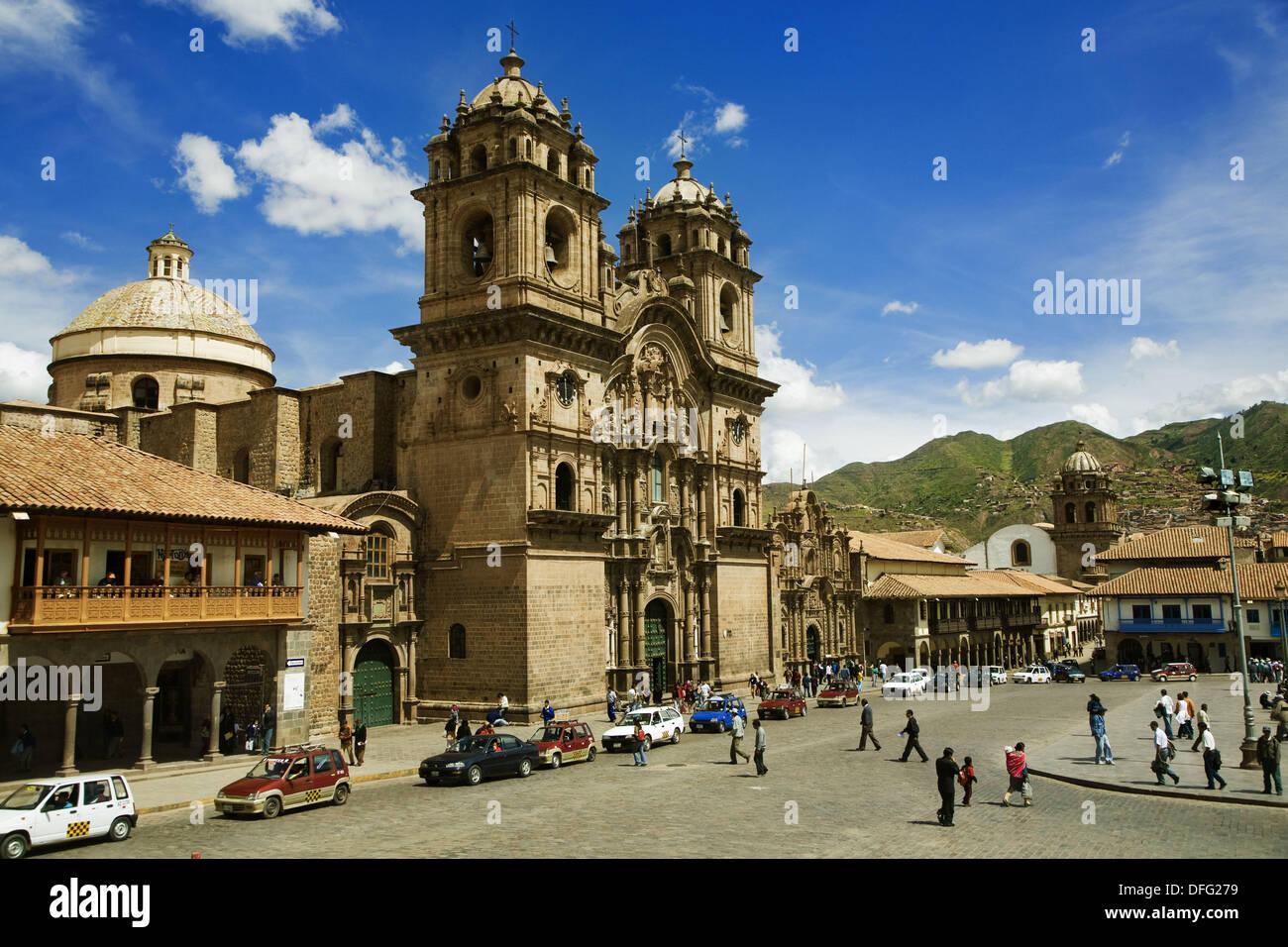 Chuch of the Society of Jesus in Plaza de Armas, Cusco, Peru - Stock Image