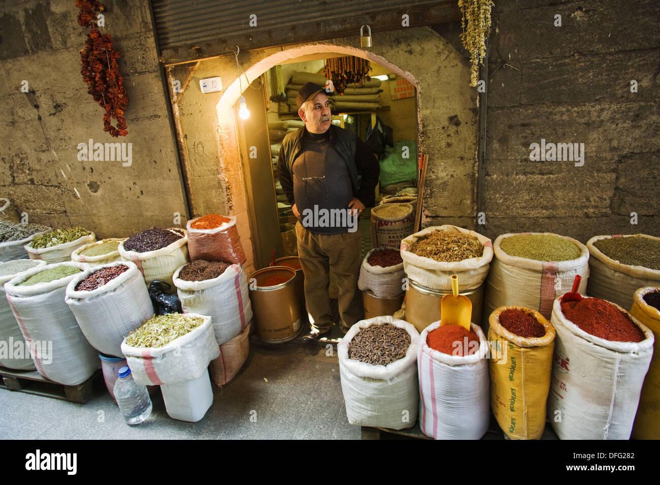 Spice Bazaar (aka Egyptian Bazaar), Eminonu, Istanbul, Turkey - Stock Image