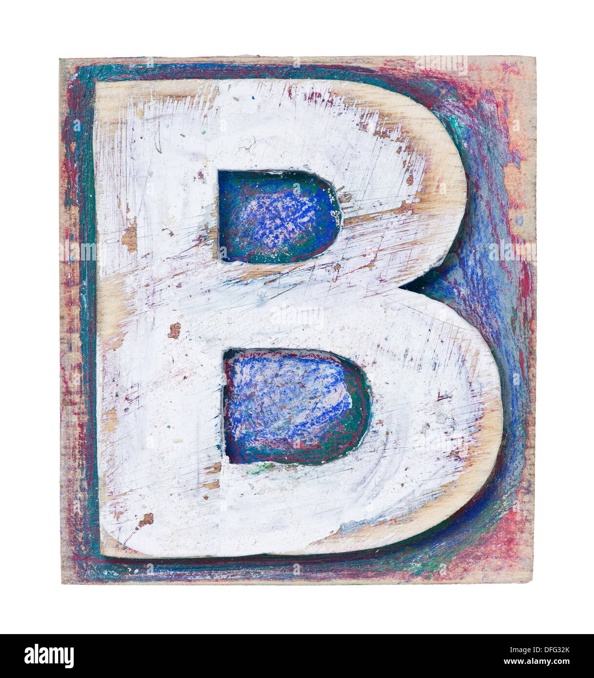 Wooden alphabet block, letter B Stock Photo: 61204603 - Alamy