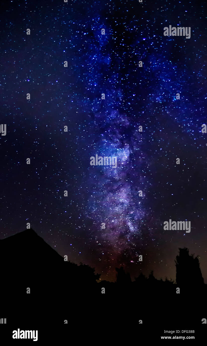 Night sky with milky way and other stars. - Stock Image
